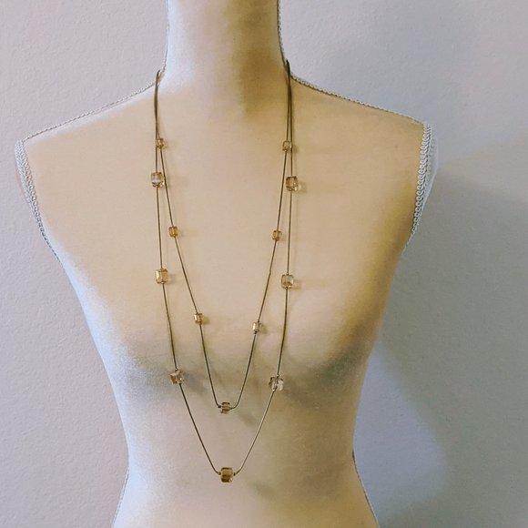 Rose Gold Double Strand Necklace